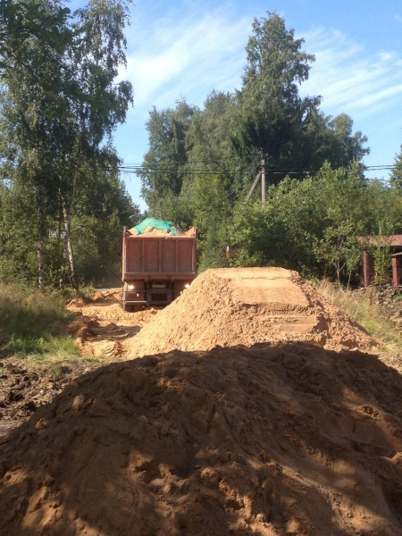 песок строительный с доставкой на дом