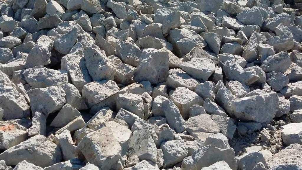 Бой бетона отход пилка для бетона